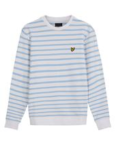 Breton Stripe Sweatshirt in White and Blue