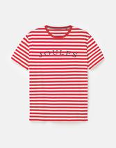Flynn Graphic Print Crew Neck T-Shirt in Red and White