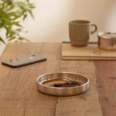 HOBO Aluminium Tray With Leather in Neutral