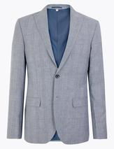 Tailored Italian Linen Miracle™ Jacket in Grey
