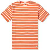 Armor-Lux 73842 Mariniere Tee in Orange and White