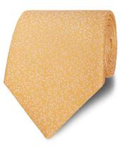 Occasionwear Wide Yellow Ditsy Floral Silk Tie in Yellow
