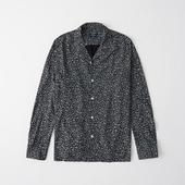 Long-Sleeve Button-Up Shirt in Black