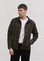 Flannel Workshirt | Black Tan Checkmate in Neutral and Black