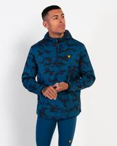 Camo Ultra Light Anorak in Black and Blue