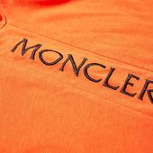 Moncler Taped Seam Logo Tee in Orange