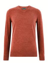 Cashmilon™ V-Neck Jumper in Red