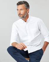 The Laundered Oxford Slim Fit Long Sleeve Shirt in White