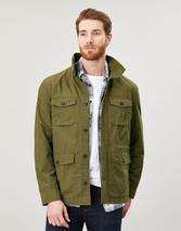 Oakes Multi Pocket Cotton Military Jacket in Green