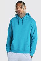 Basic Over The Head Hoodie in Blue