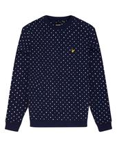 Flag Printed Sweatshirt in Navy