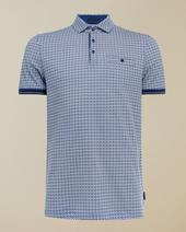 BAGIN Cotton polo shirt in White and Navy