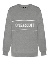 Crew Neck Jumper with central logo in Grey