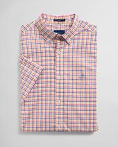 Regular Fit Short Sleeve 3-Color Gingham Broadcloth Shirt in Multicoloured