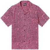 Stan Ray Kelapa Vacation Shirt in Pink and Black