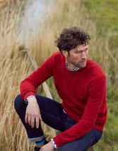 Redmond Mini Waffle Jumper in Red