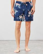 Heston Printed Swim Shorts in Navy