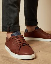 THWALLY Soft leather trainers in Brown