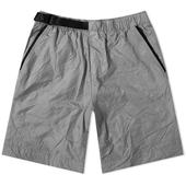 Nike Tech Woven Crinkle Short in Grey