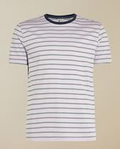 CHI Striped cotton T-shirt in Purple