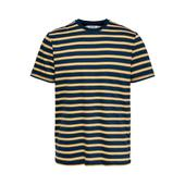 Regular Fit Stripe Tee in Yellow and Blue