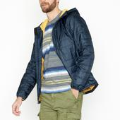 Navy Recycled Polyester Shower Resistant Packaway Padded Jacket in Navy