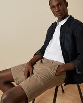 BUENOSE Cotton chino shorts in Neutral