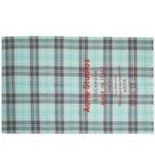 Acne Studios Cassiar Check Scarf in Grey and Blue