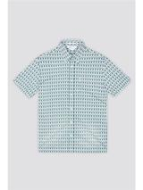 Archive Piper Shirt in Green and White