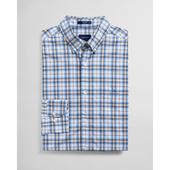 Regular Fit Tech Prep™ Multi Check Broadcloth Shirt in Blue