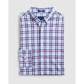 Regular Fit Tech Prep™ Multi Check Broadcloth Shirt in Pink and Blue