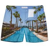Bulldog Mandarin Oriental Jumeira Dubai Mid-Length Swim Shorts in Multicoloured