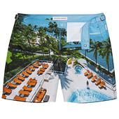 Bulldog Mandarin Oriental Miami Mid-Length Swim Shorts in Multicoloured