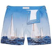 Bulldog Full Sail Ahead Mid-Length Swim Shorts in Blue