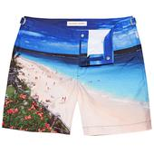 Bulldog Lifes A Beach Mid-Length Swim Shorts in Multicoloured