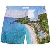 Bulldog Mandarin Oriental Canouan Mid-Length Swim Shorts in Multicoloured