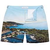 Bulldog Mandarin Oriental Bodrum Mid-Length Swim Shorts in Multicoloured