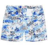 Bulldog Illustration Repeat Mid-Length Swim Shorts in Multicoloured