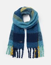 Edgworth Very Chunky Scarf in Navy and Blue