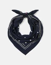 Tiewell Square Neckerchief in Navy