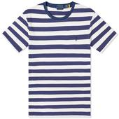Polo Ralph Lauren Broad Striped Tee in White and Navy