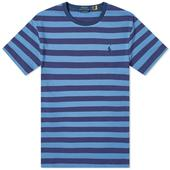 Polo Ralph Lauren Broad Striped Tee in Navy and Blue