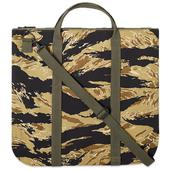 The Real McCoy's Tiger Camouflage Helmet Bag in Green and Black