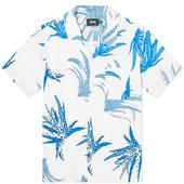 Stussy Cactus Rayon Shirt in White and Blue
