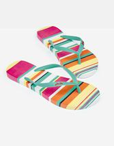 210699 Womens Flip Flops in Multicoloured