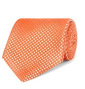 8.5cm Silk-Jacquard Tie in Orange