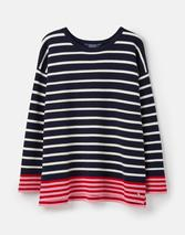 Uma Boat Neck Jumper in Navy