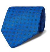 8.5cm Silk-Jacquard Tie in Blue