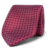 7.5cm Silk-Jacquard Tie in Red