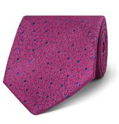 8.5cm Silk-Jacquard Tie in Purple